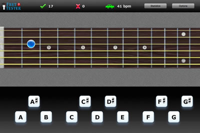 fret tester online fretboard trainer for guitar bass